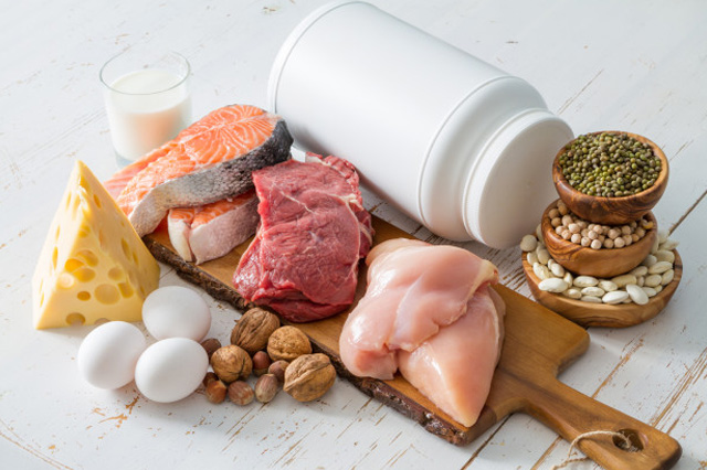 Protein and Carbohydrates Food
